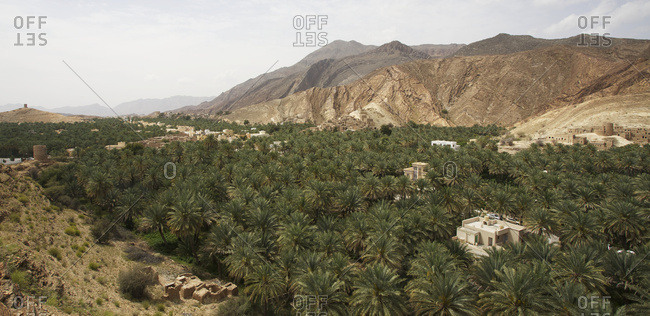 Traditional village perched in the Jabal Akhdar mountains