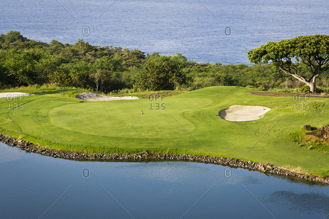 Golf course, Kona Country Club; Kailua Kona, Island of Hawaii, Hawaii, United States of America