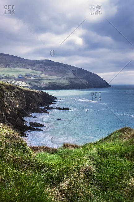 Moody weather at Slea-Head in the Dingle Peninsula; County Kerry, Ireland