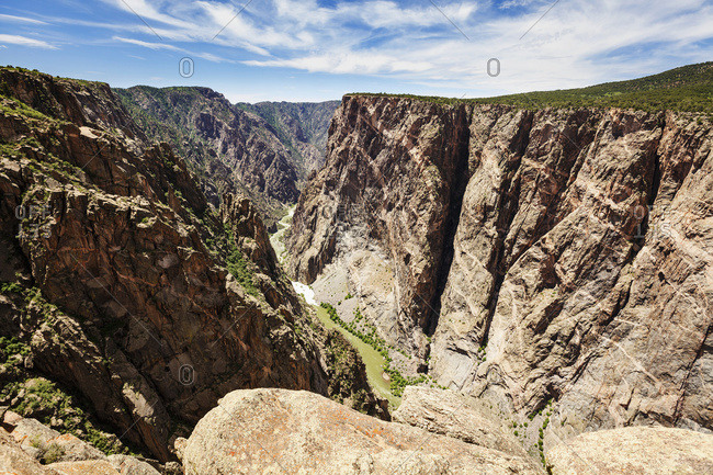 The Painted Wall, Black Canyon of the Gunnison National Park; Colorado, United States of America