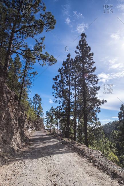 Path through hills in Tenerife, Spain