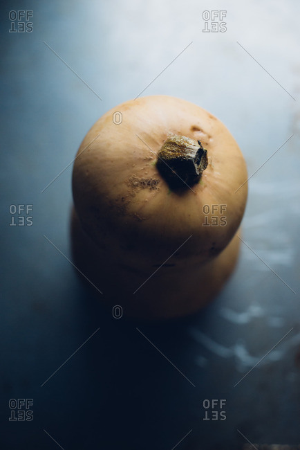 Top view of butternut squash