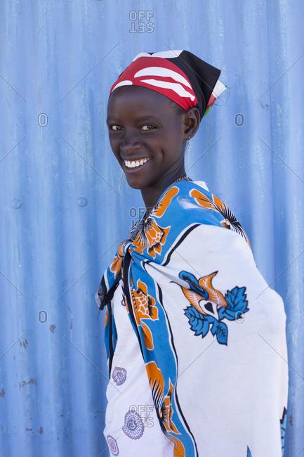 Portrait of Maasai tribeswoman, Kenya, Africa.