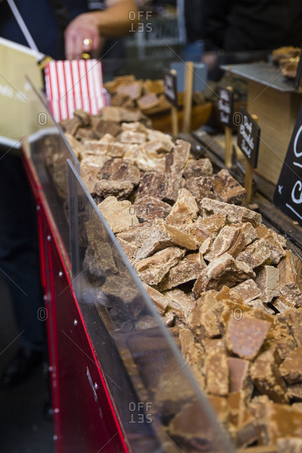 Toffees in a market in London, United Kingdom