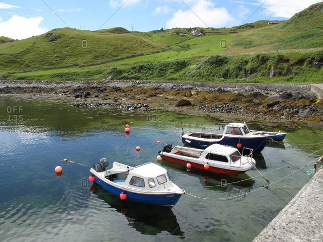 Three boats in Skerray Harbor
