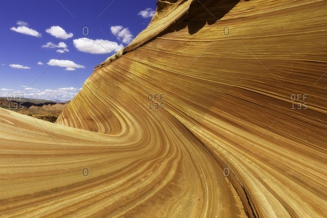 THE WAVE is a sandstone rock formation located in Arizona close to the Utah border