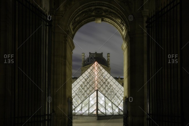 Louvre Pyramid. Paris, Ile-de-France , France