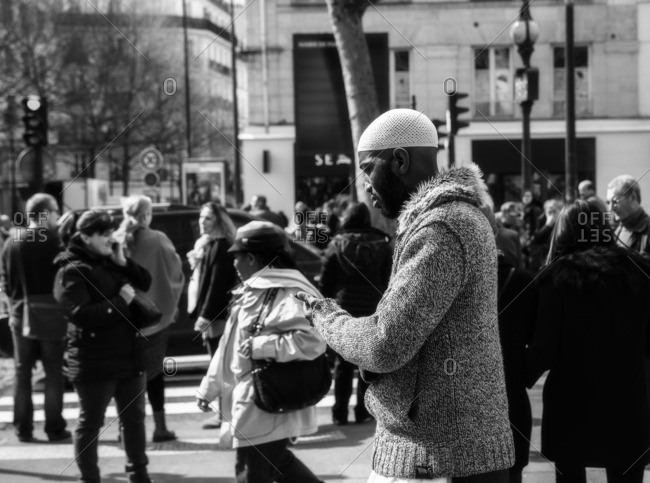 France,Francia, Ile-de-France, Paris,  - March 27, 2015: Multiethnic quarter in Paris., Ile-de-France , France