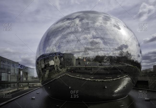 France,Francia, Ile-de-France, Paris,  - March 27, 2015: Geod� sphere at Marne-la-Vall_e. Paris, Ile-de-France , France