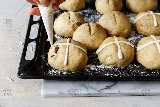 Marzipan topping for Hot cross buns