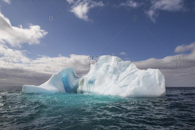 An impressive iceberg grounded at Elephant Island