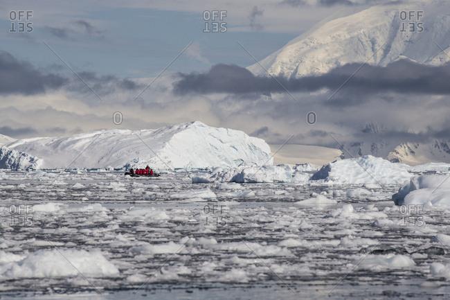 Exploring an ice-filled Neko Harbor in Antarctica