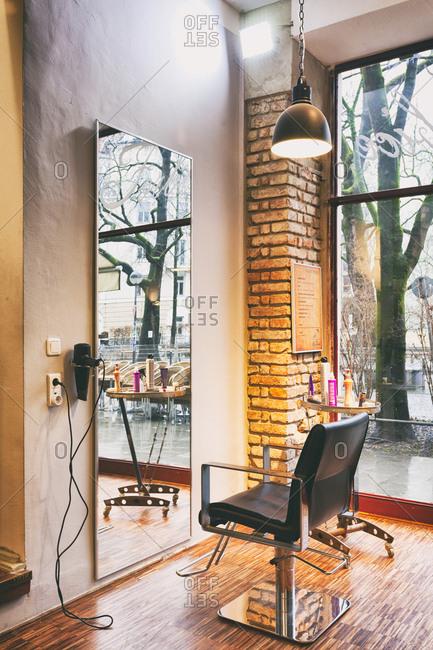 Hairdresser chair hair salon mirror Hairdressing