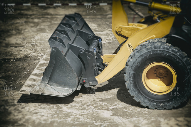 Close up excavator digger earth mover construction