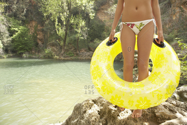 Portrait of Woman with Inner Tube