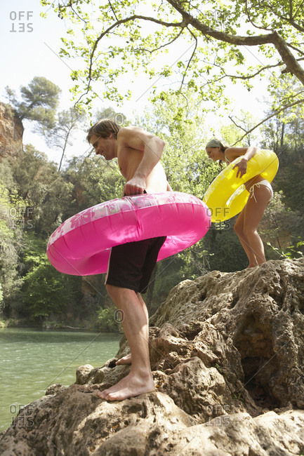 Couple with Inner Tubes