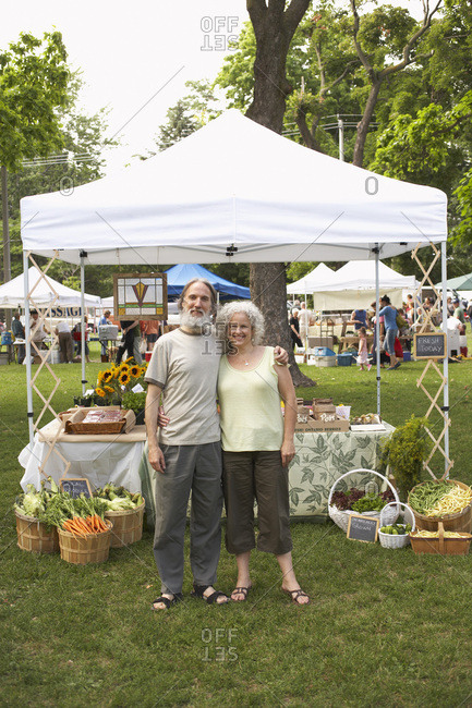 Couple at Farmers Market