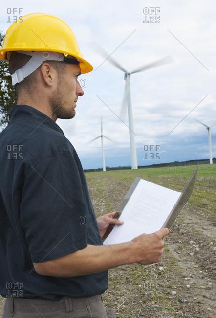 Worker on Wind Farm, Denmark