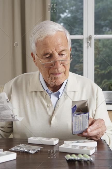 Man Taking Medication - Offset Collection
