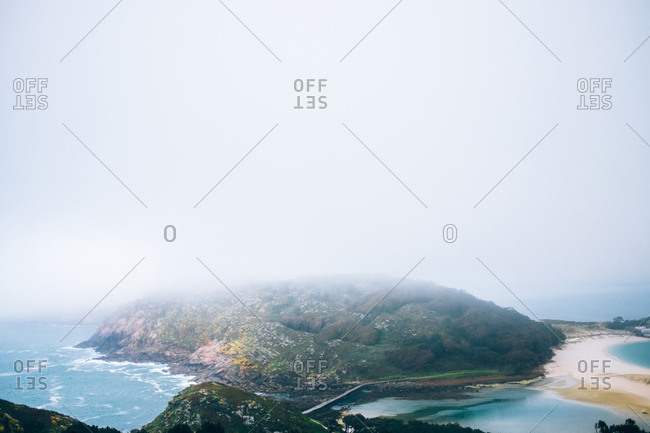 Epic view of creek in mountain landscape in Cies Islands