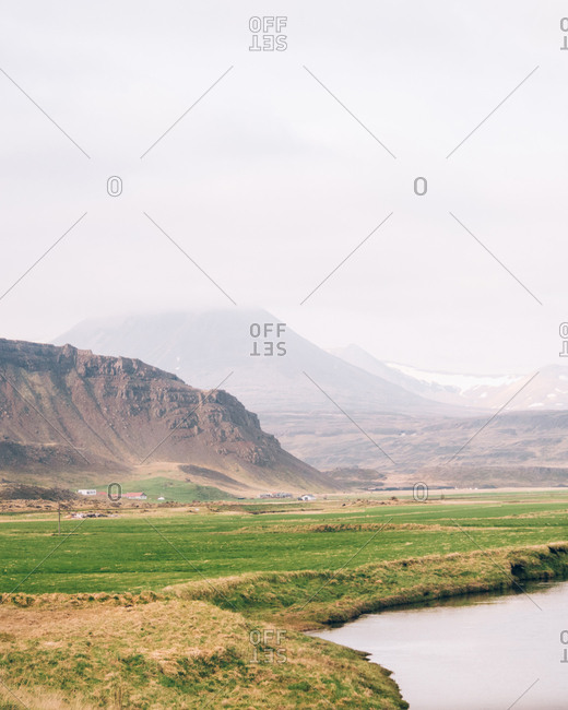 Mountain meadow and hills
