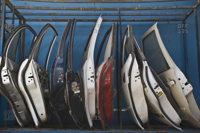 Row of Dismantled Car Doors ... & car doors stock photos - OFFSET pezcame.com