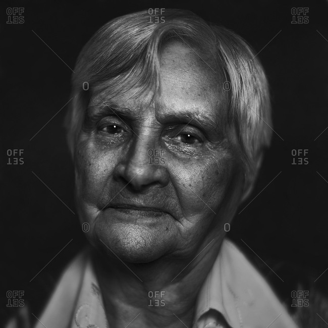 Close up of Senior Caucasian woman's face