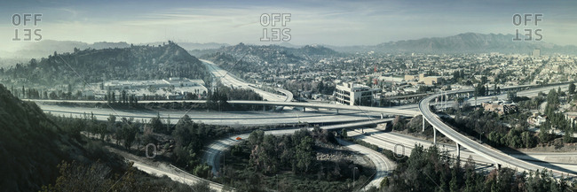 Empty highways, Glendale, California, United States