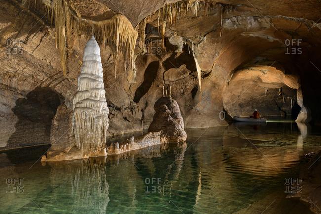 Still water in cave, Loz, Notranjska, Slovenia