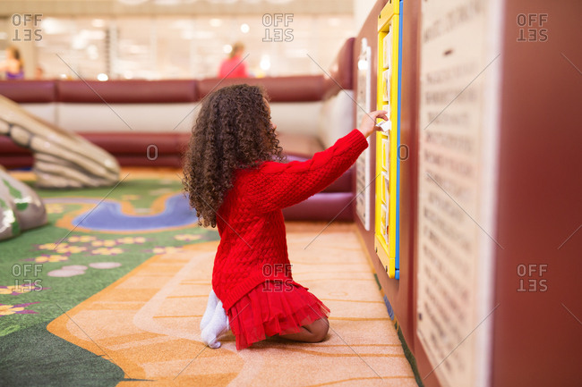 Girl in an indoor playground