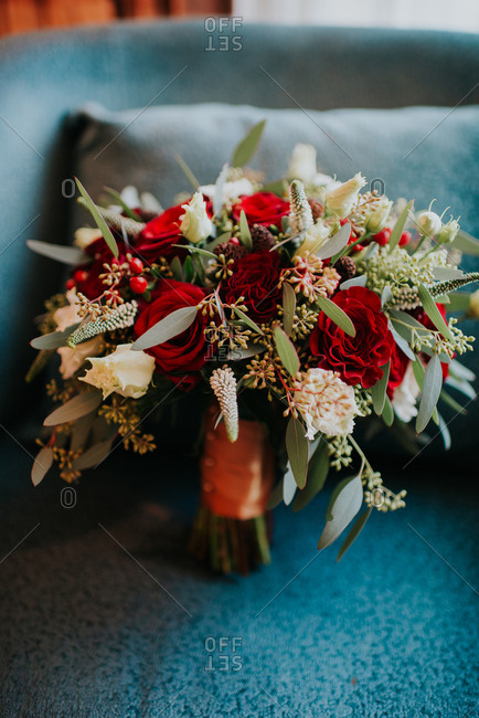 Roses in a wedding bouquet