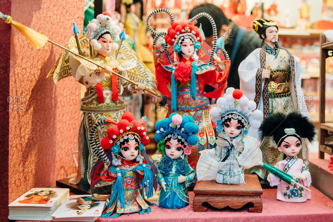 2/11/17: Ancient costume dolls, in Guangzhou, China.