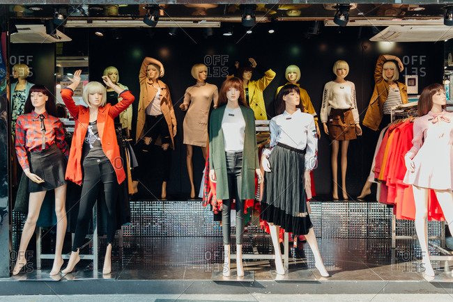 2/11/17: Mannequins display on street, in Guangzhou, China.