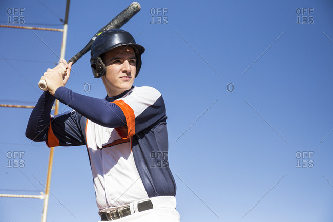 Batter ready to hit the ball during a baseball game