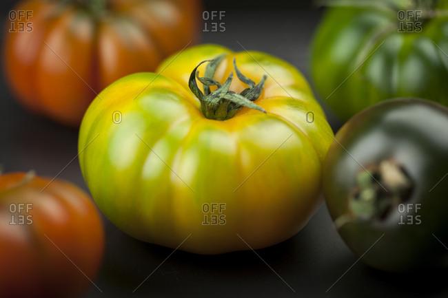 Yellow green Oxheart Tomato