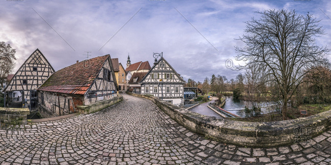 Germany- Baden-Wuerttemberg- Waiblingen- historical old town