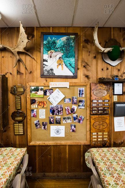 August 10, 2015: Interior of sportsman club