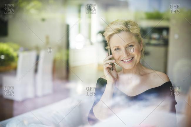 Portrait of smiling mature woman