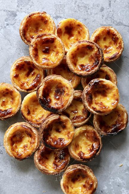 Traditional Portuguese egg tarts-Pastel de nata.