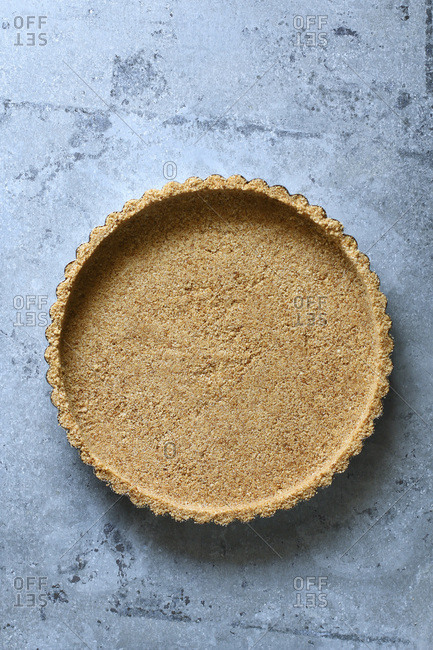 Pie crust made with graham cracker crumbs.