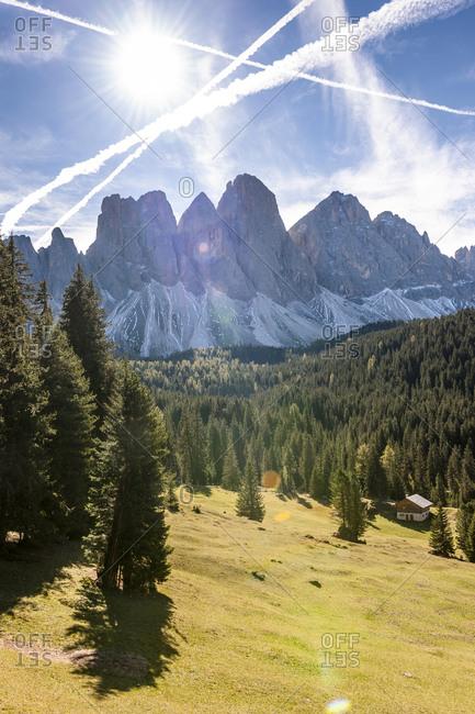 Italy- South Tyrol- Villnoess Valley- Geisler Group