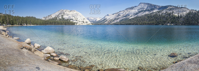 USA- California- Yosemite National Park- mountain lake