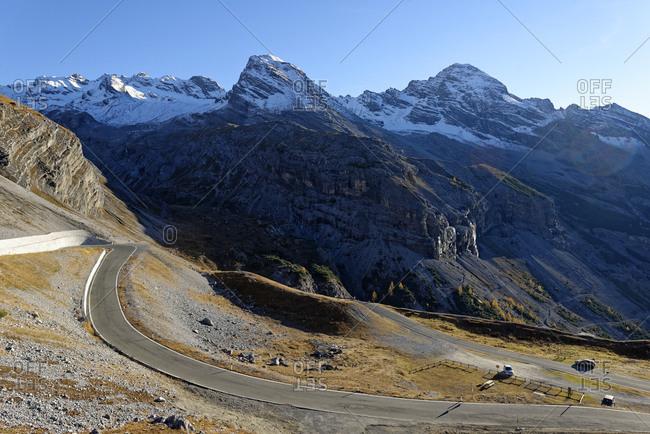 Italy- Alto Adige- Stelvio Pass mountain road