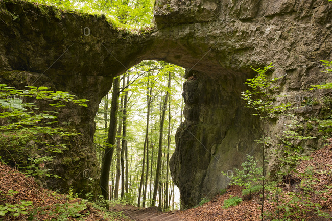 Germany- Bavaria- Kinding- rock gate near Unteremmendorf