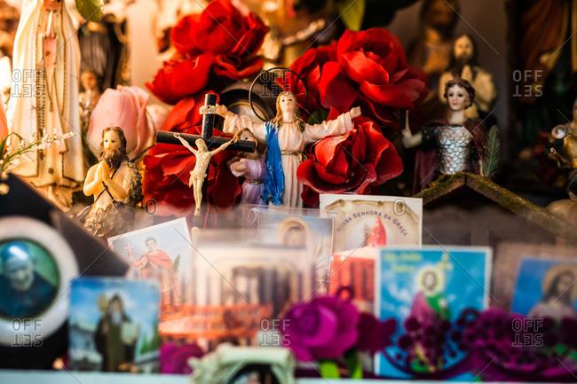 Popular religious altar in Lisbon, Portugal