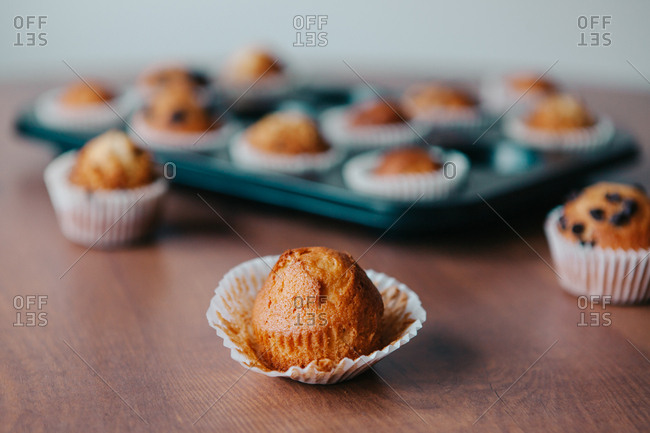 Home Made Muffins with Chocolate Seeds