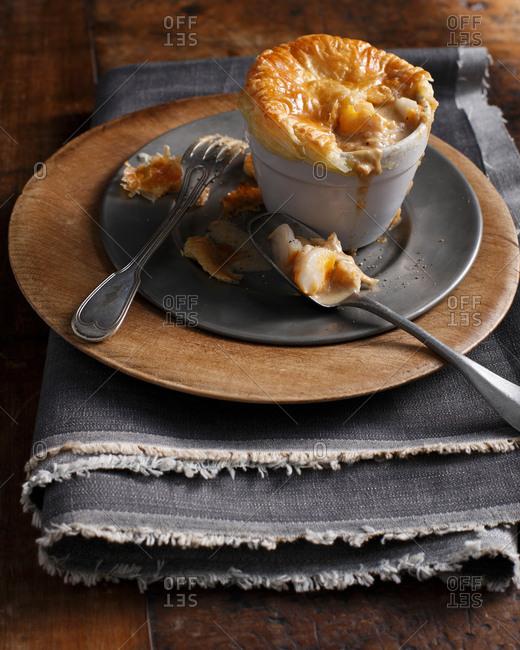 Puff pastry smoked fish pie