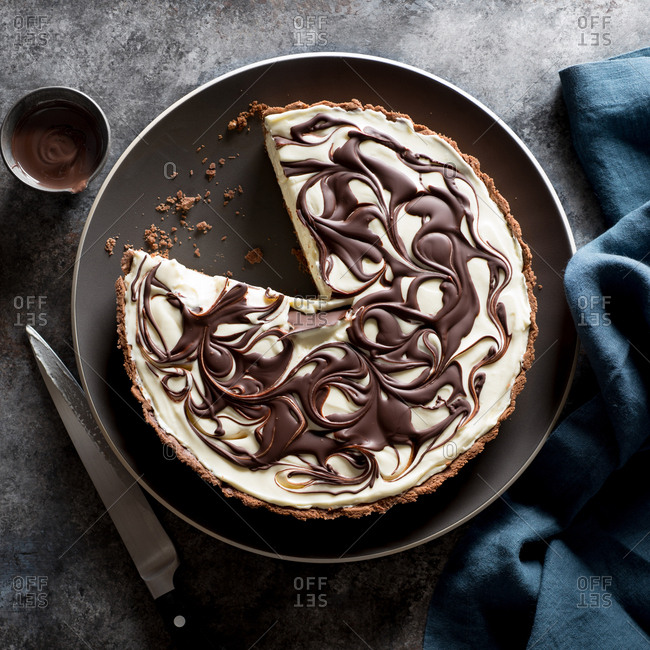 Chocolate Cheesecake Swirl Tart