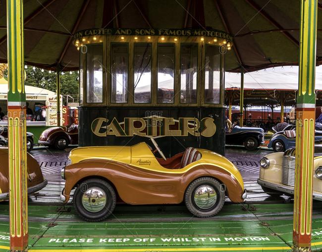 Bath, England - August 13, 2016: Classic car carnival ride