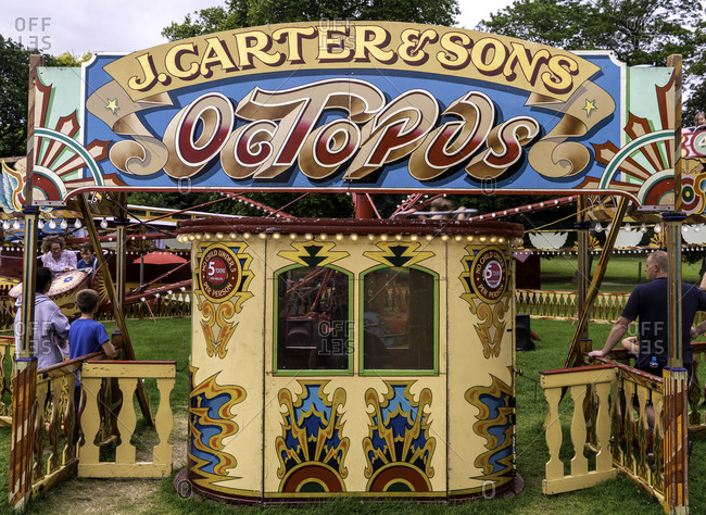 Bath, England - August 13, 2016: Octopus ride at carnival